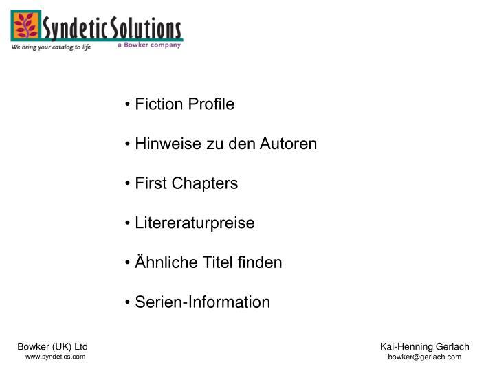 • Fiction Profile