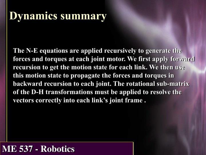Dynamics summary