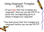 using congruent triangles cpctc