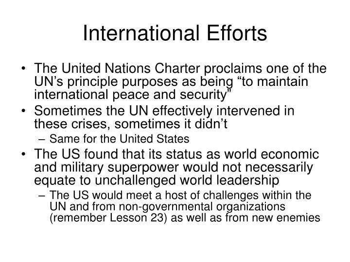International Efforts
