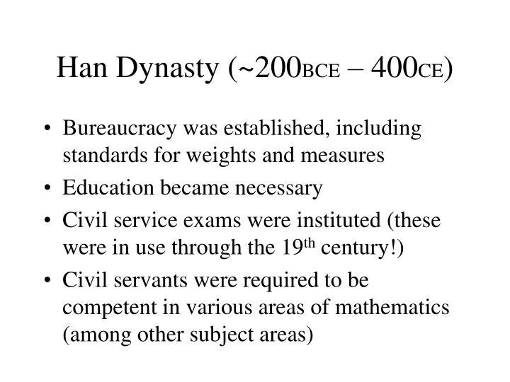 Han Dynasty (~200