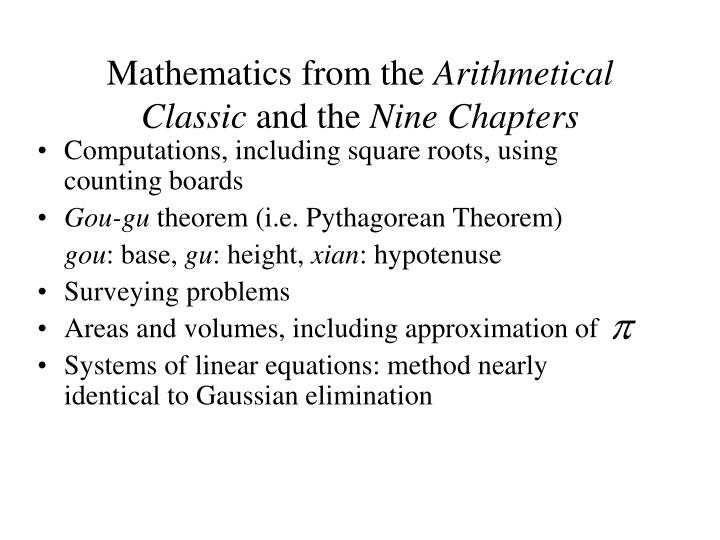 Mathematics from the