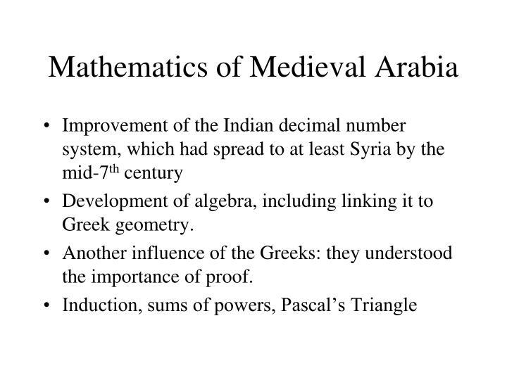 Mathematics of Medieval Arabia