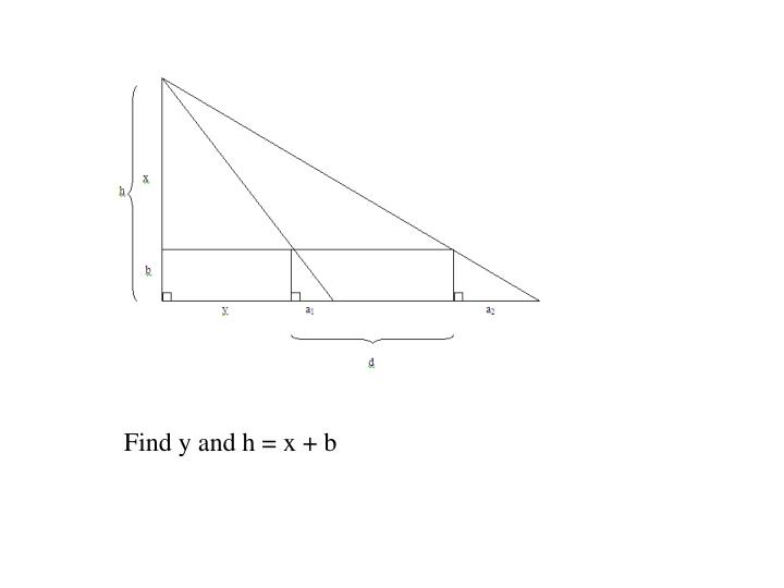 Find y and h = x + b