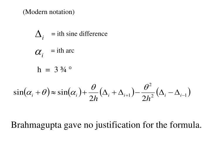 (Modern notation)