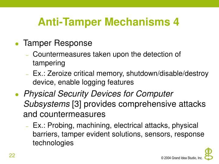 Anti-Tamper Mechanisms 4