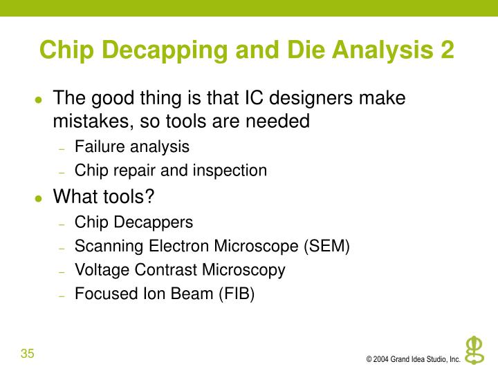 Chip Decapping and Die Analysis 2