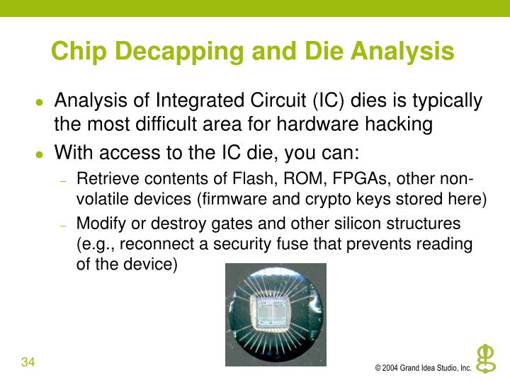 Chip Decapping and Die Analysis