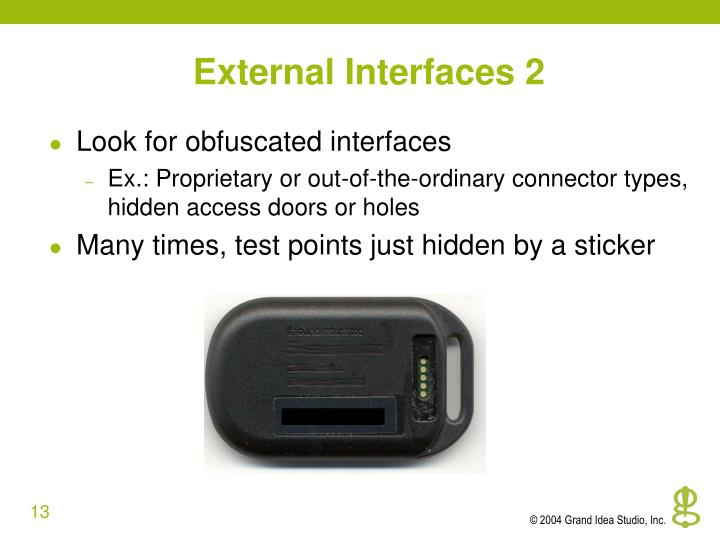 External Interfaces 2