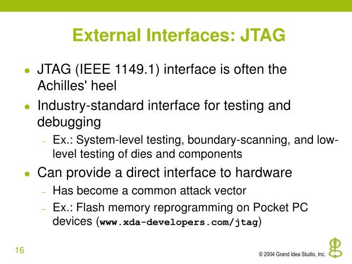 External Interfaces: JTAG