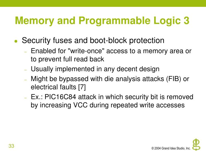 Memory and Programmable Logic 3