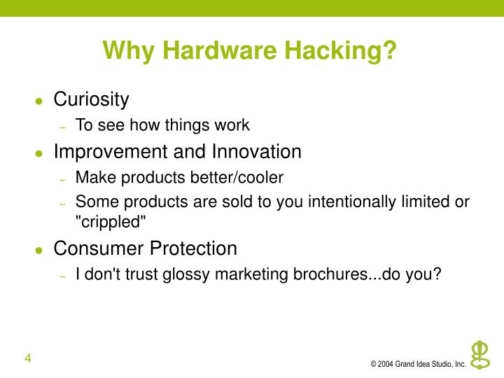 Why Hardware Hacking?