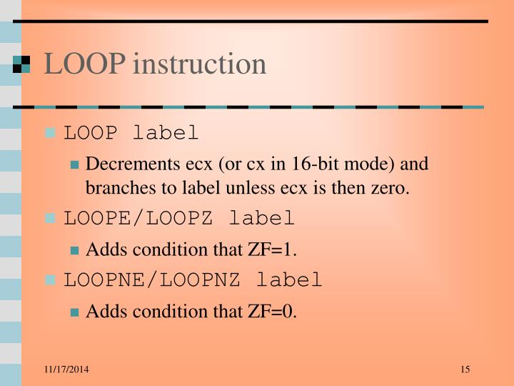 LOOP instruction