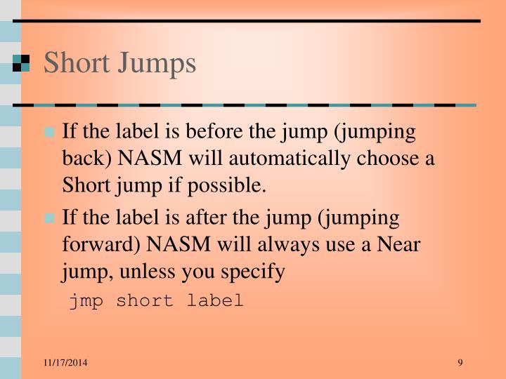 Short Jumps