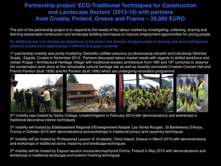 Partnership project '