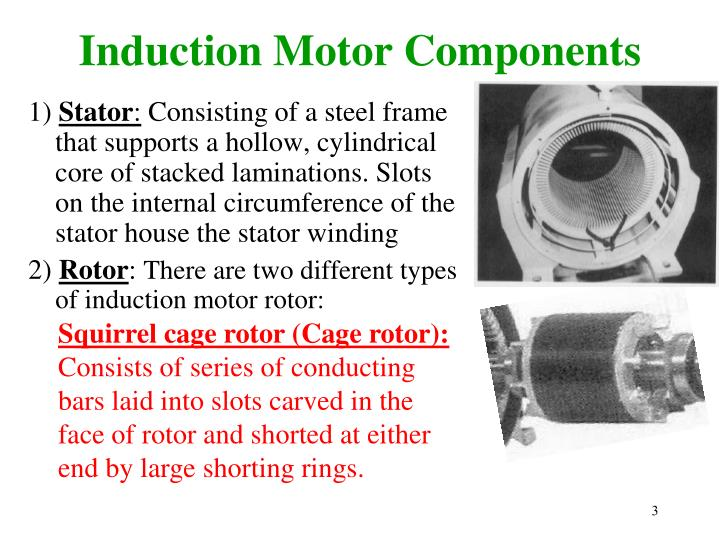 Induction motor components