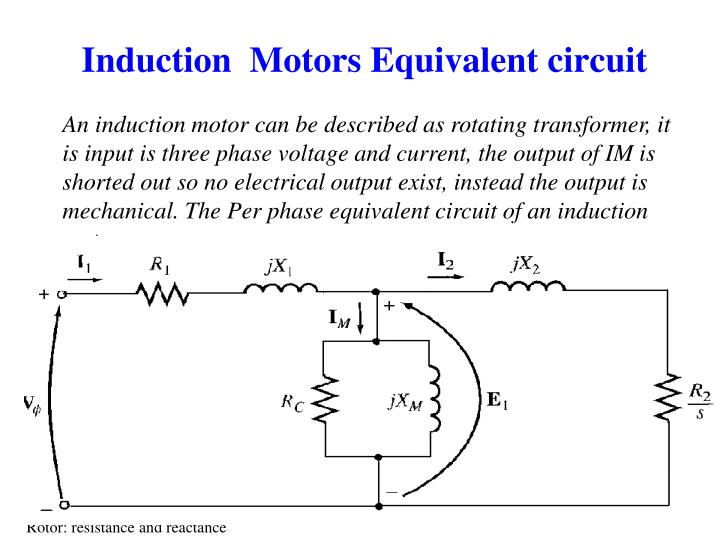 Induction  Motors Equivalent circuit