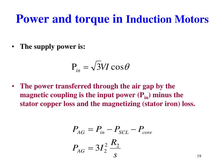 Power and torque in