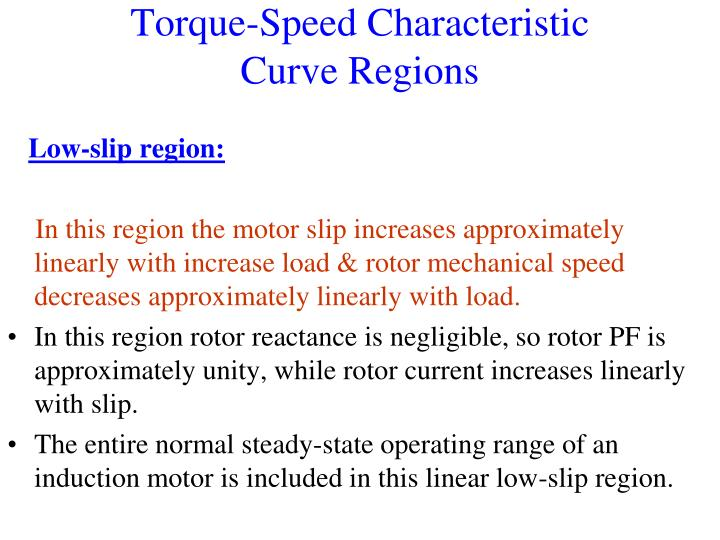 Torque-Speed Characteristic