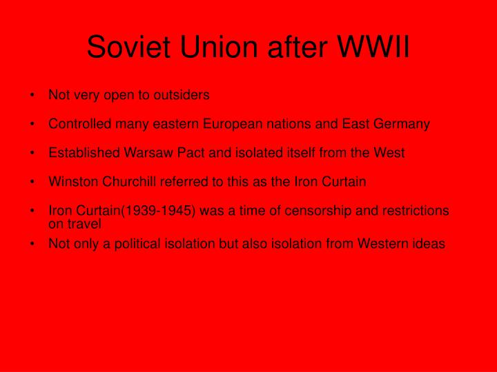 Soviet Union after WWII