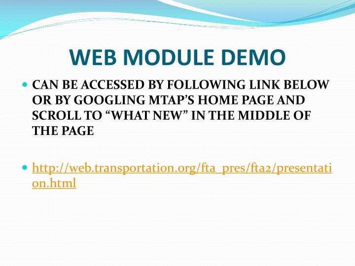 WEB MODULE DEMO