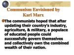 communism envisioned by karl marx