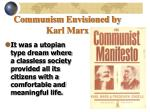 communism envisioned by karl marx1