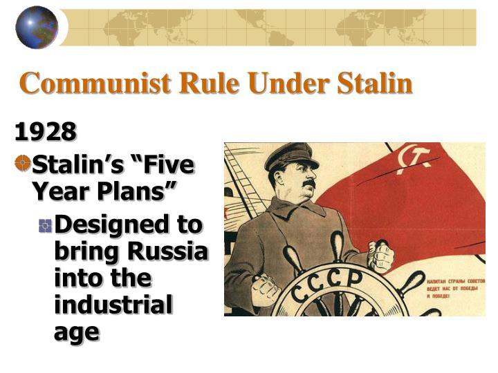 Communist Rule Under Stalin