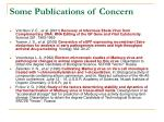 some publications of concern