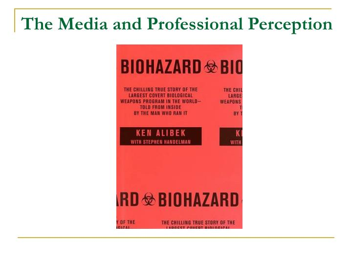 The Media and Professional Perception