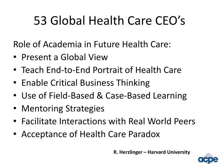53 Global Health Care CEO's