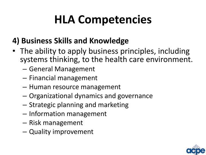 HLA Competencies