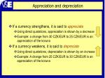 appreciation and depreciation