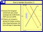 how to maintain the anchor 1