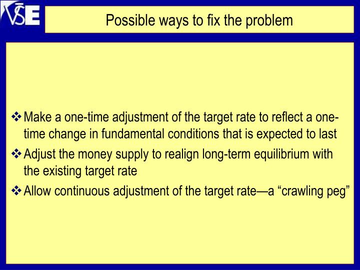 Possible ways to fix the problem