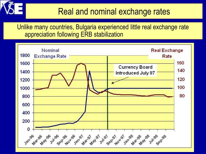 Real and nominal exchange rates