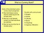what is a currency board
