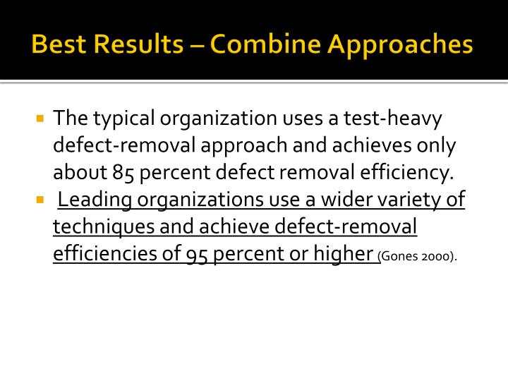 Best Results – Combine Approaches