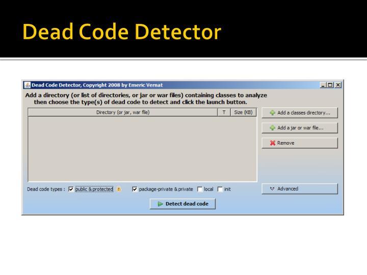 Dead Code Detector