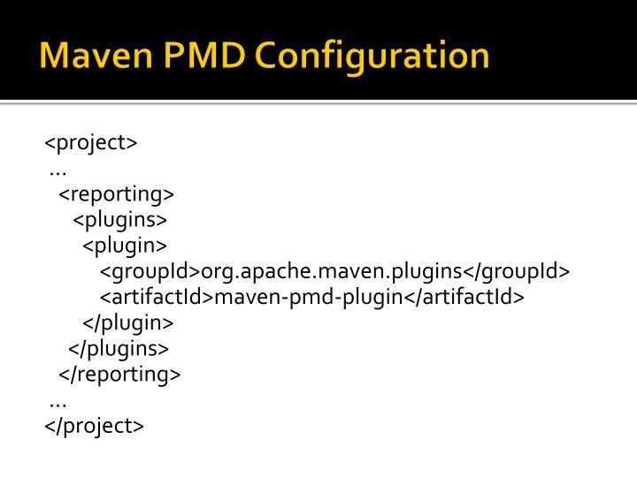 Maven PMD Configuration