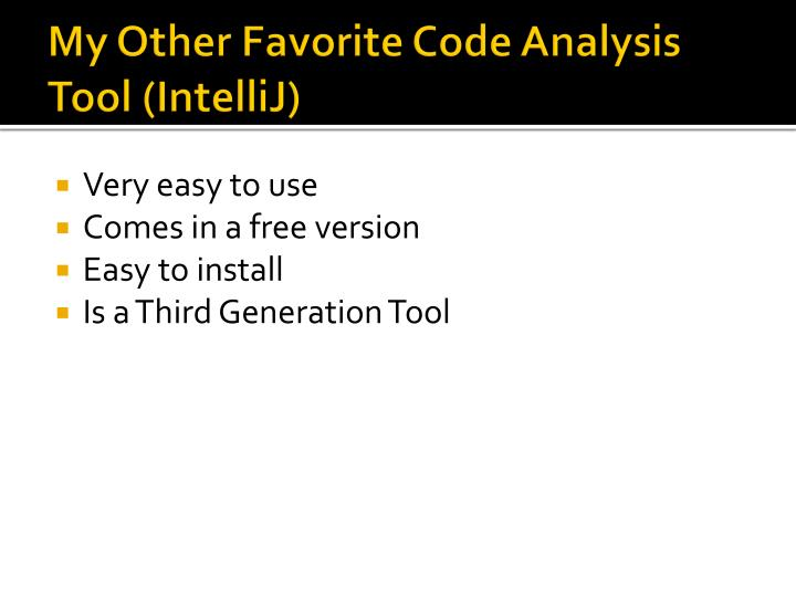 My Other Favorite Code Analysis Tool (