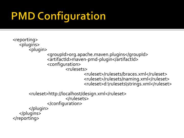 PMD Configuration