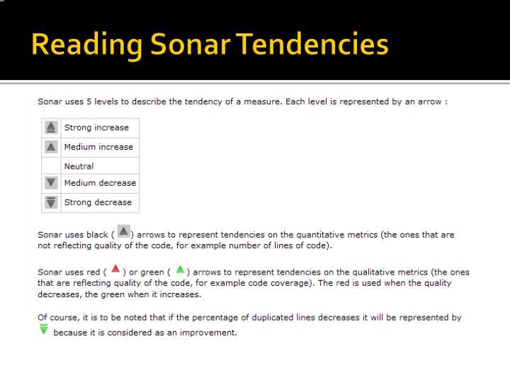 Reading Sonar Tendencies