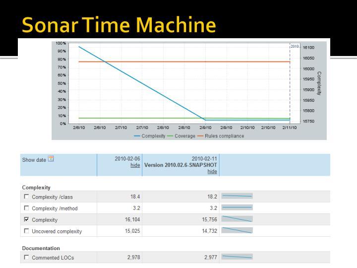 Sonar Time Machine