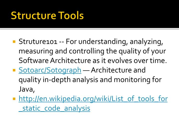 Structure Tools