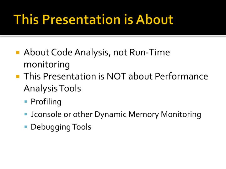 This Presentation is About
