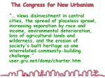 the congress for new urbanism