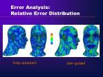 error analysis relative error distribution