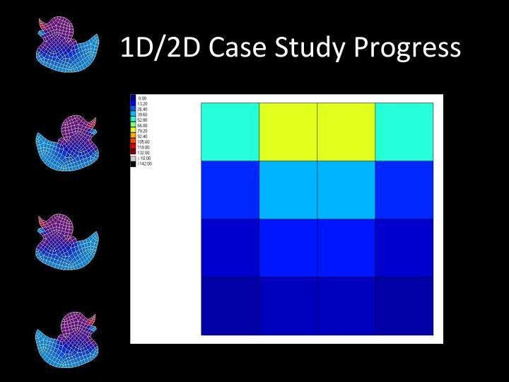 1D/2D Case Study Progress