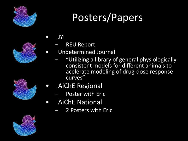 Posters/Papers